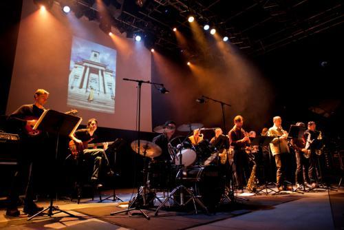 Prestation du Big Band Universitaire - Voeux du Président de l'Université de Franche-Comté - La Rodia - 05 janvier 2012