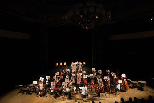 Spectacle Le Chant des voyelles - Coproduction Orchestre Universitaire et Théâtre Universitaire - 02 juin 2014 - copyright Ludovic Gaudard