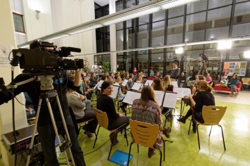 """Reportage BTS audiovisuel de Montbéliard : """"plateau TV"""" avec l'orchestre symphonique et le Big Band - Maison des étudiants (Besançon) - 30 mars 2016"""